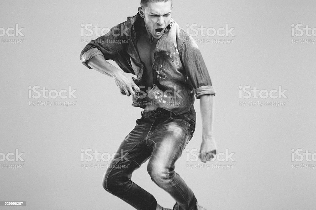 Man having fun stock photo