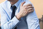 Man having shoulder pain problem