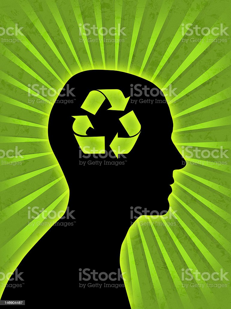 Man head silhouette royalty-free stock photo