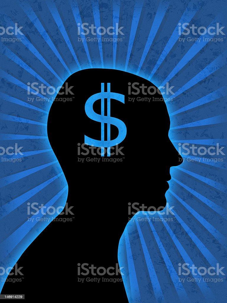 Man head silhouette royalty-free stock photo