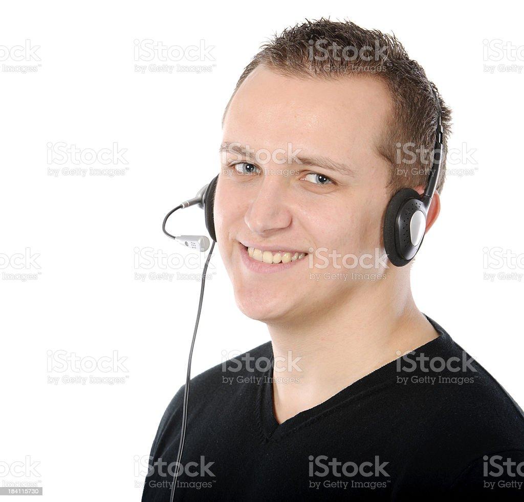 man headphones royalty-free stock photo