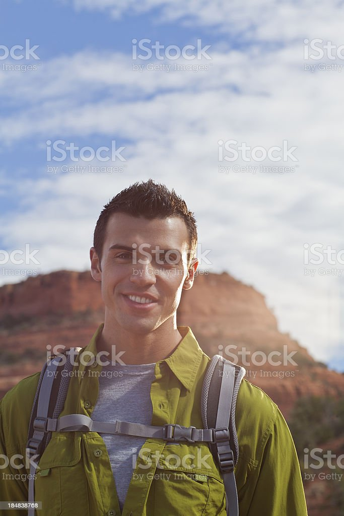Man Hiking royalty-free stock photo