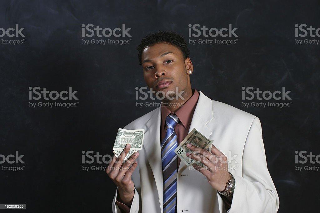 Man Hold Money royalty-free stock photo