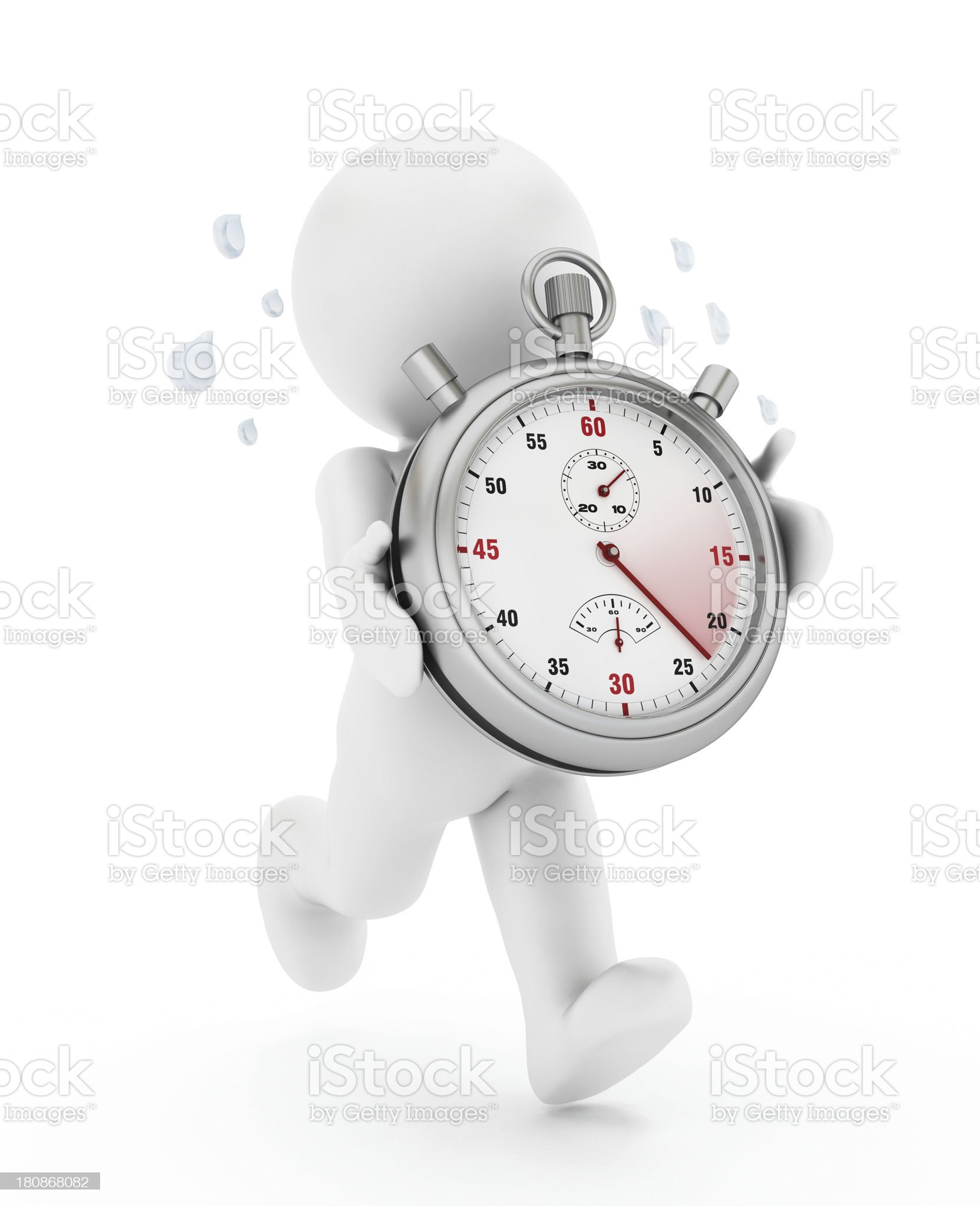 Man holding a chronometer royalty-free stock photo