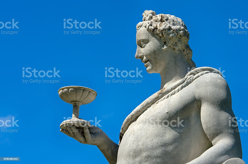 Man holding a cup royalty-free stock photo