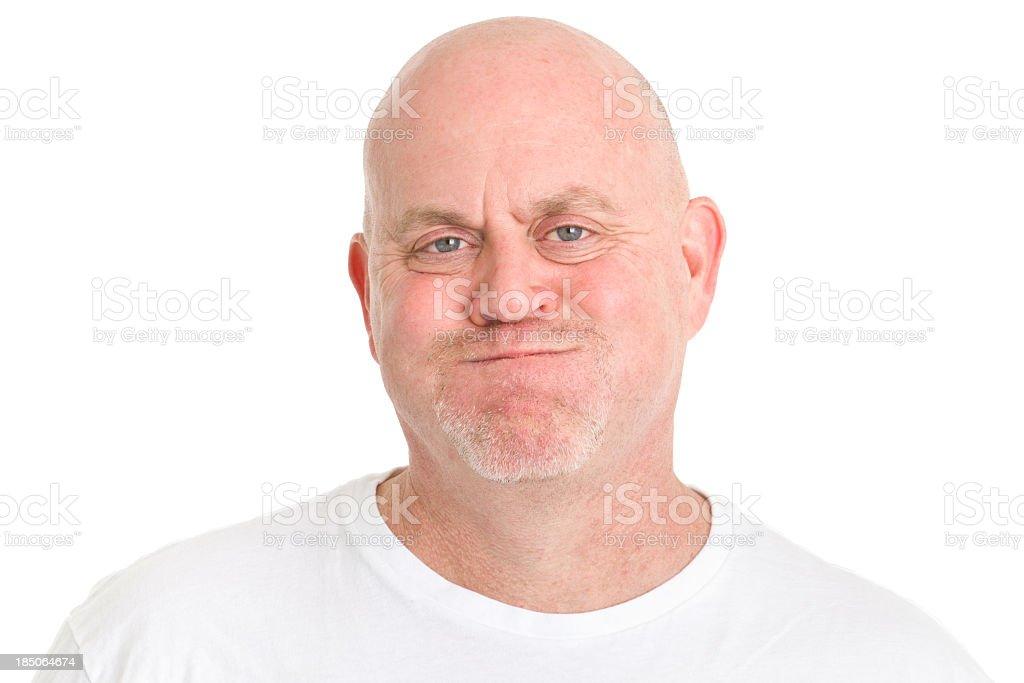 Man Holding Breath Blowing Cheeks stock photo