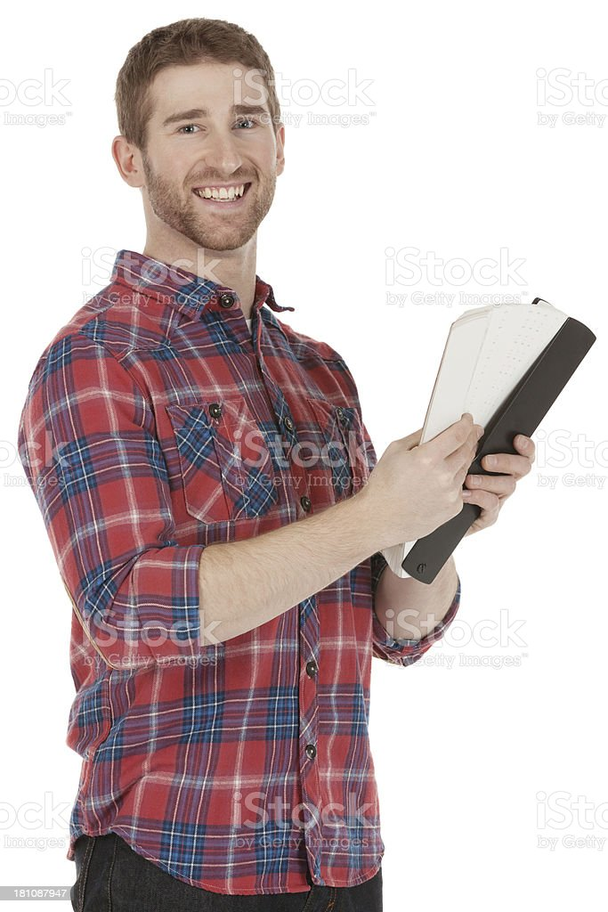 Man holding color swatches royalty-free stock photo