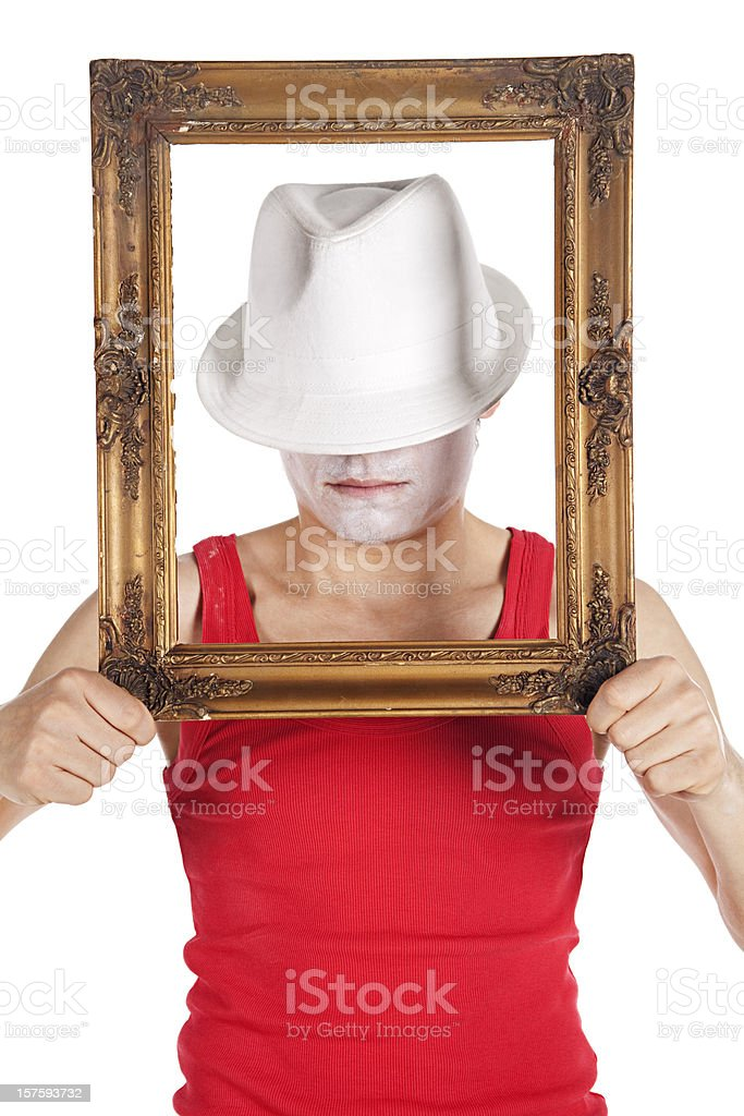 Man Holding Frame royalty-free stock photo