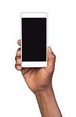 Man holding mobile smart phone