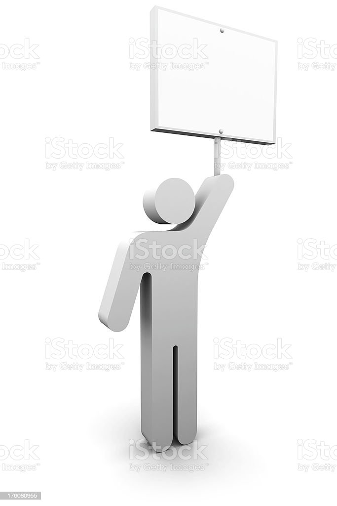 Man Holding Sign royalty-free stock photo