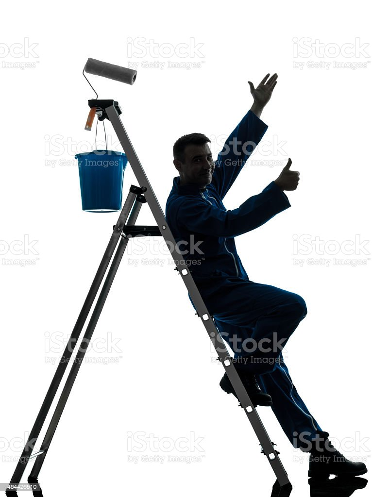 man house painter worker worker silhouette stock photo