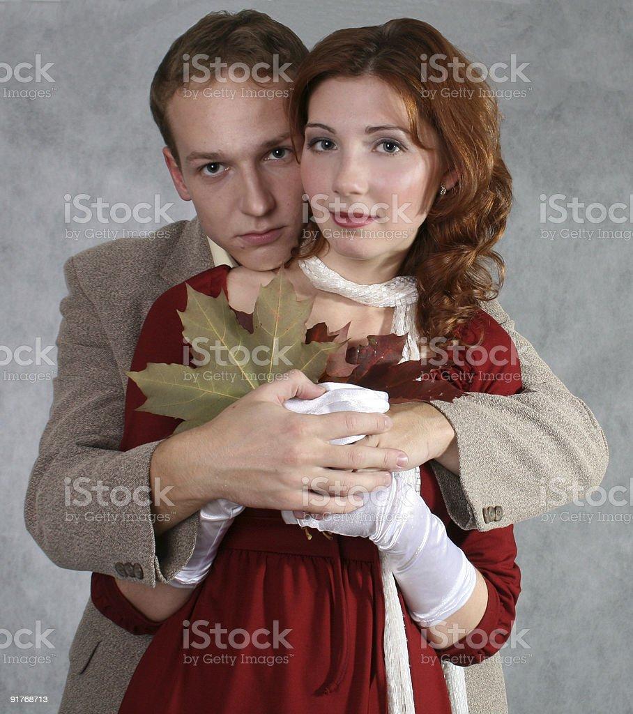 Man hugging a girl royalty-free stock photo