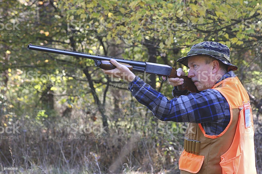 Man Hunting royalty-free stock photo