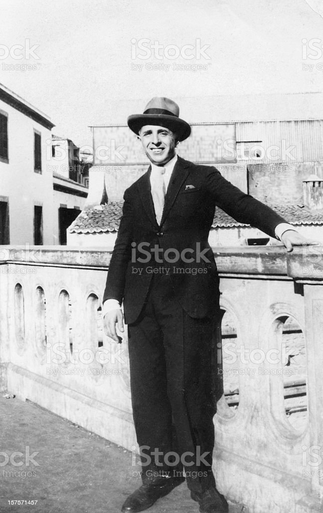 Man in 1930 stock photo