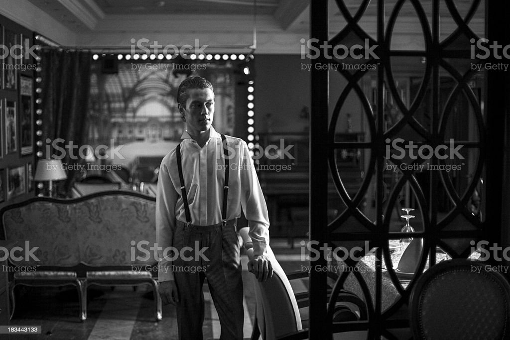 man in a classic room royalty-free stock photo