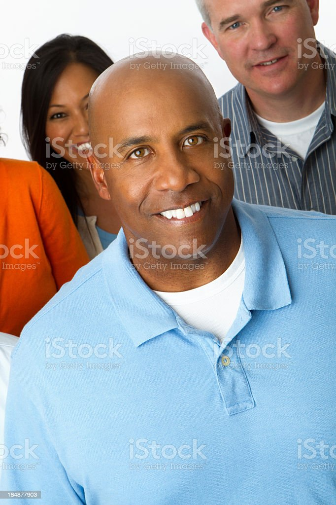 Man in a crowd royalty-free stock photo