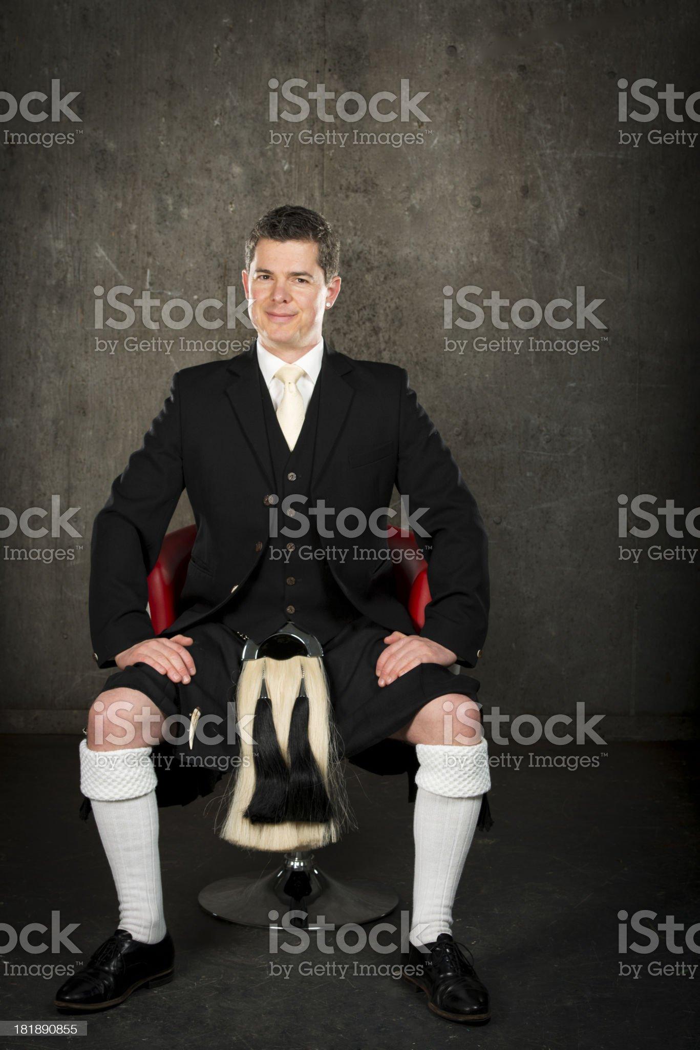 Man in a kilt royalty-free stock photo
