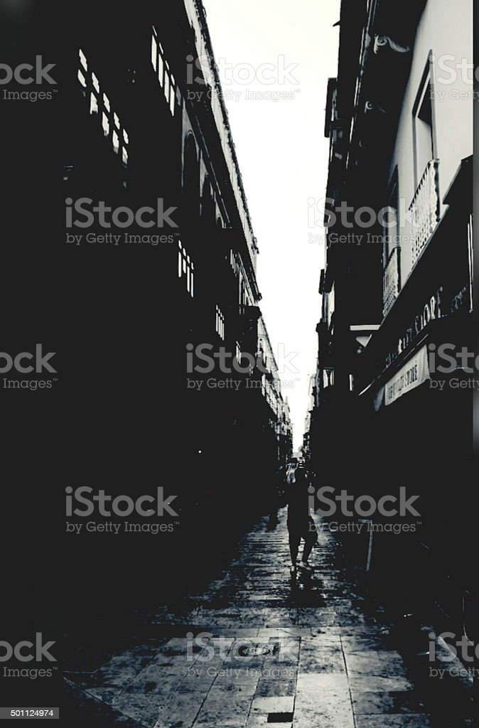 Man in a shadow royalty-free stock photo
