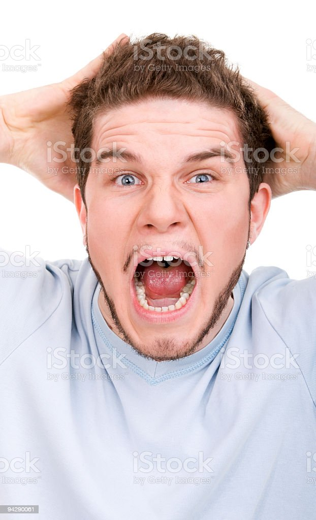 Man in a shock royalty-free stock photo