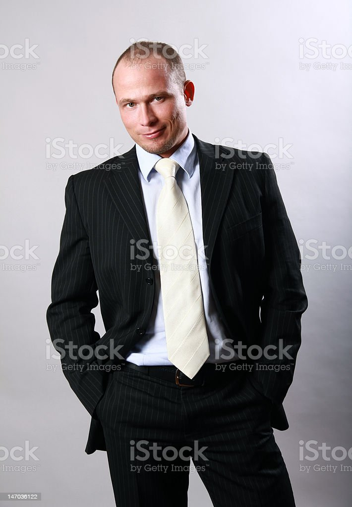 Man in a suit royalty-free stock photo