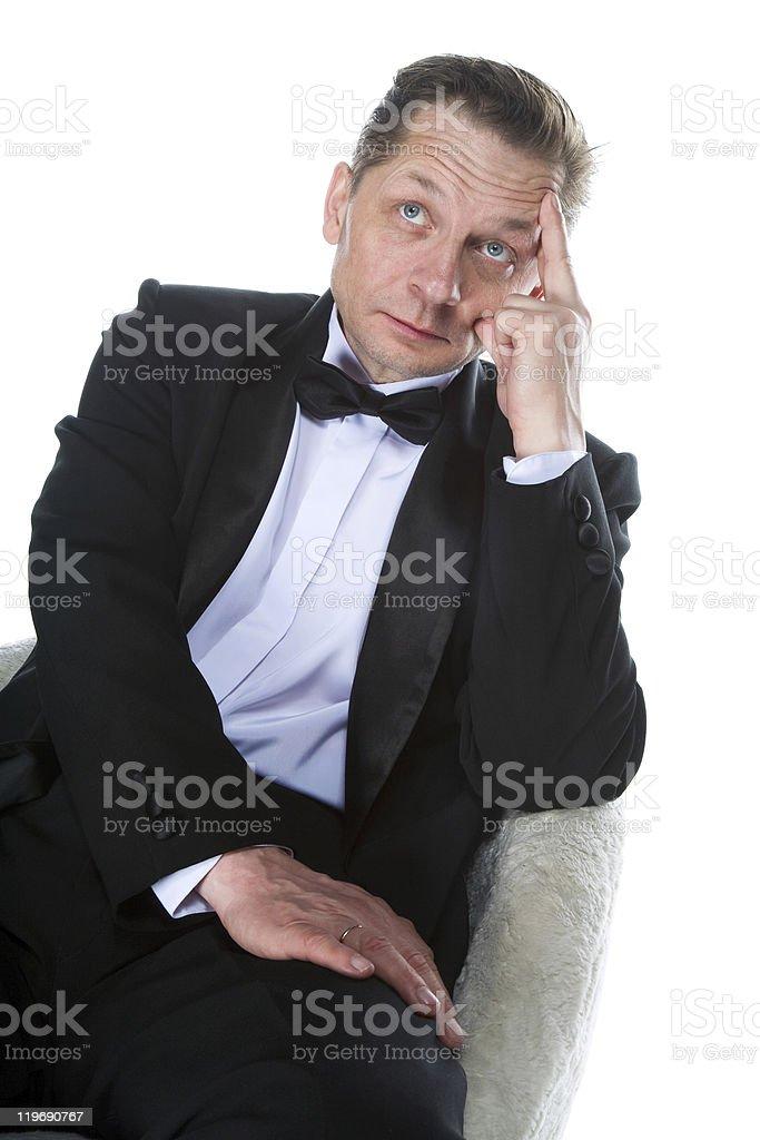 man in a tuxedo stock photo