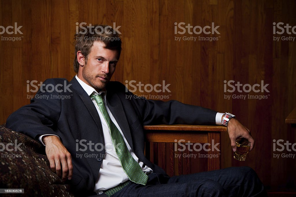 Man in Bar stock photo