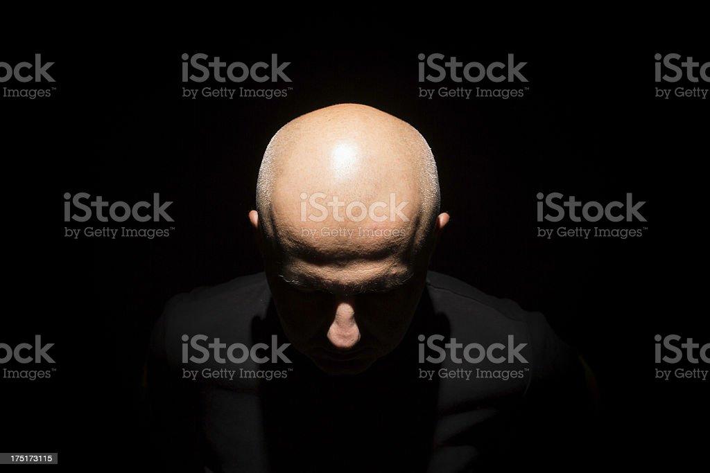 man in black stock photo