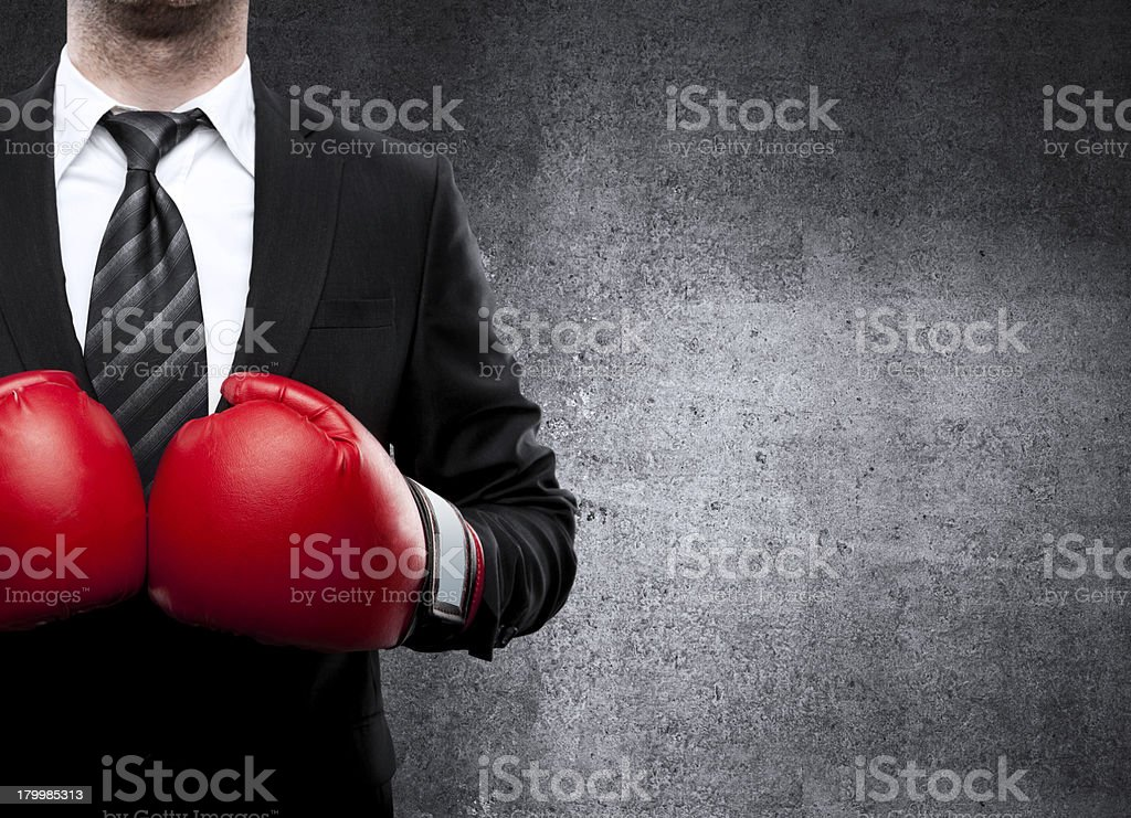 man in boxing gloves royalty-free stock photo