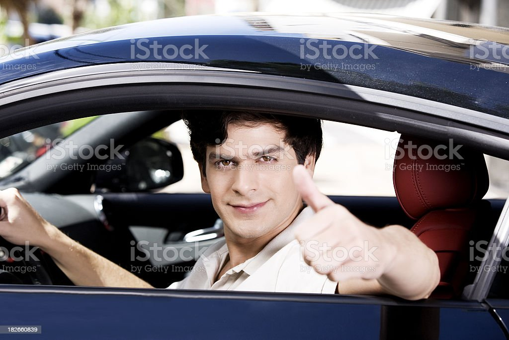 Man in Car royalty-free stock photo