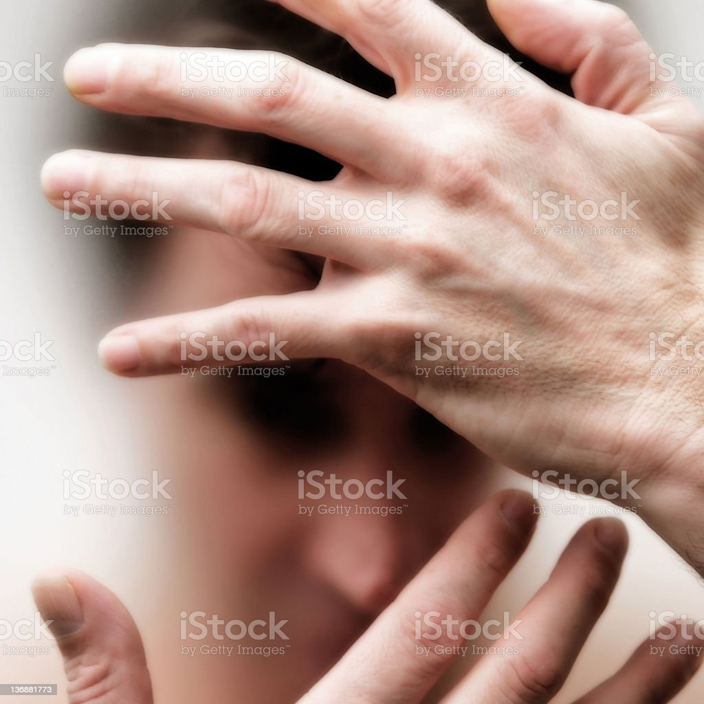 man in chronic pain royalty-free stock photo