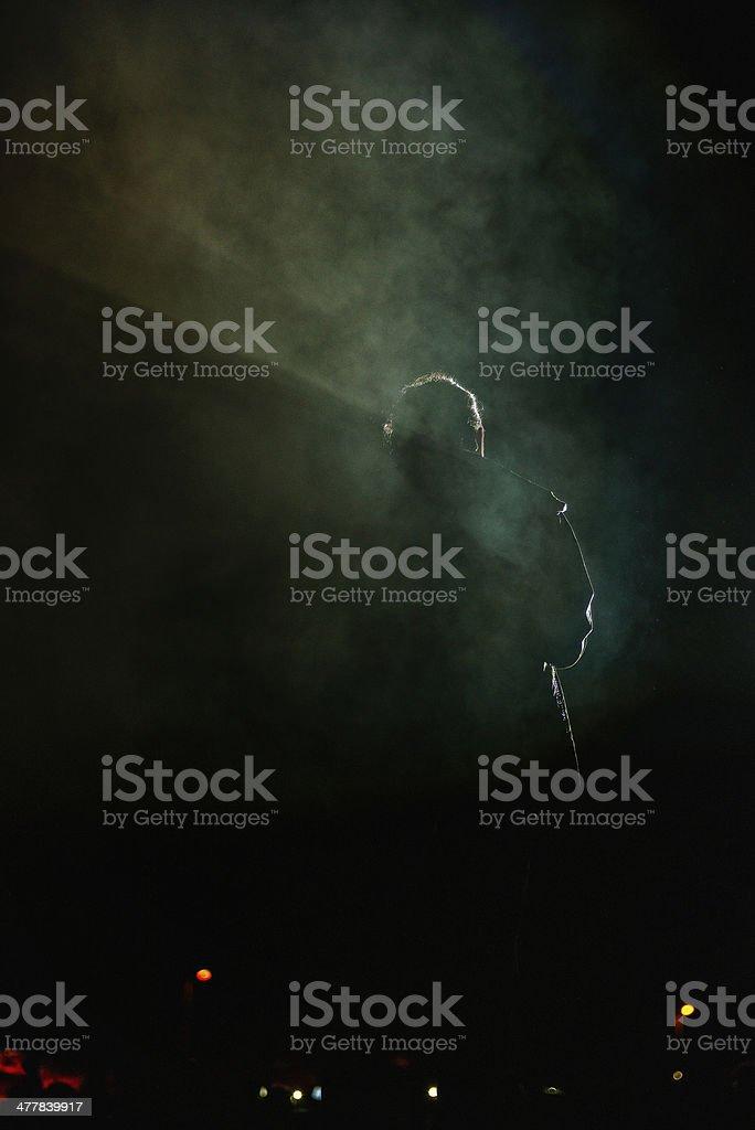 man in dark royalty-free stock photo