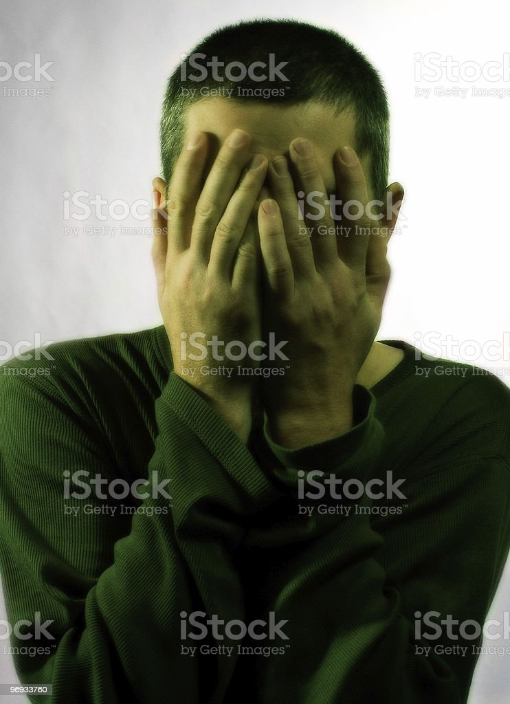 Man in depression royalty-free stock photo