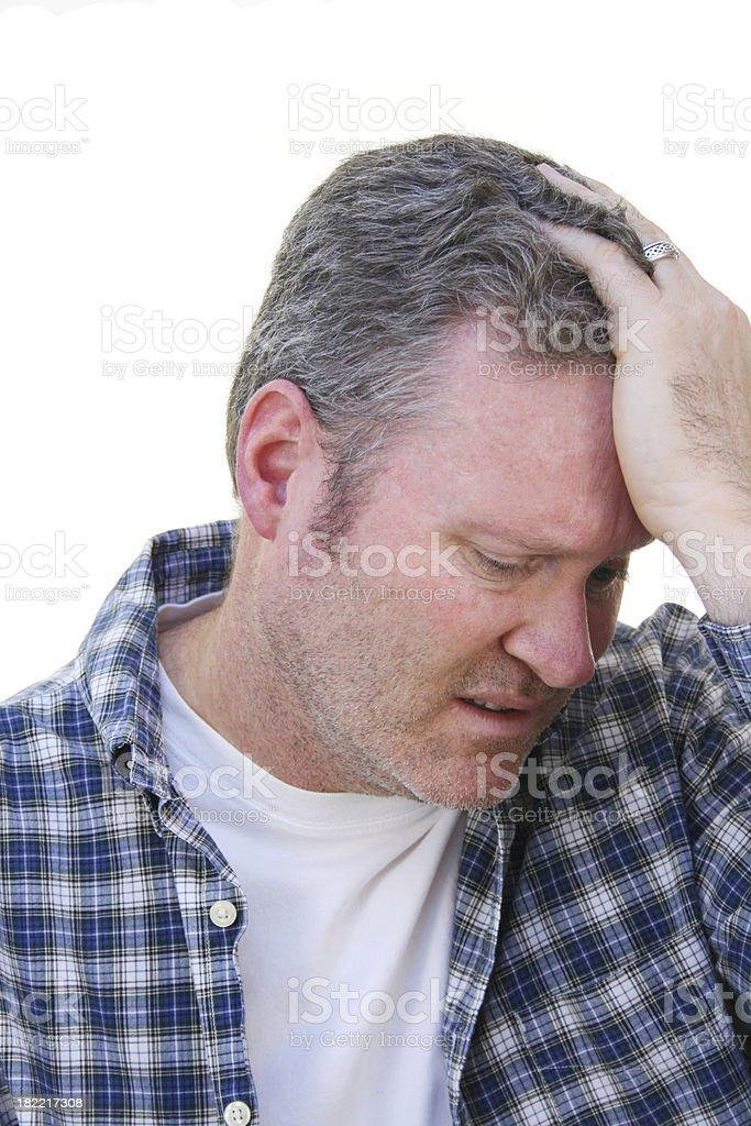 Man In Despair royalty-free stock photo