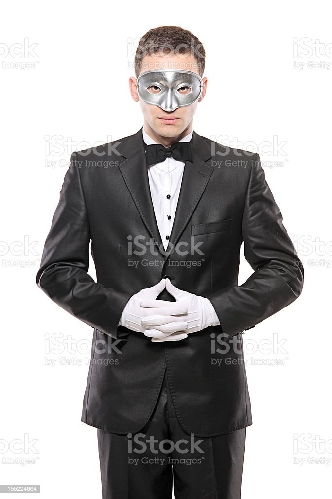 Man in disguise royalty-free stock photo