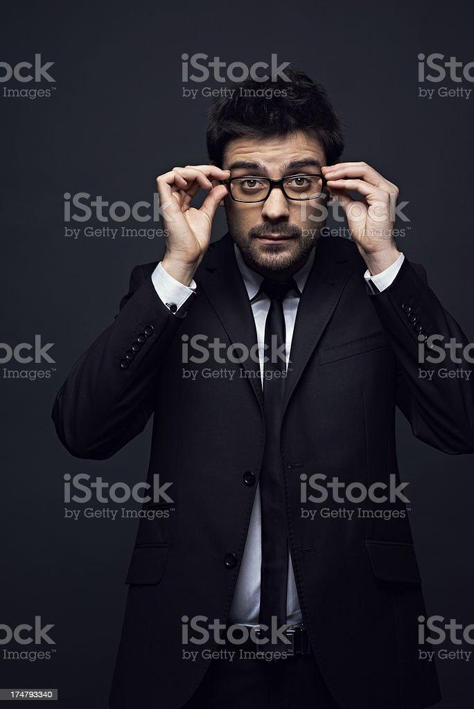 Man in eyeglasses royalty-free stock photo