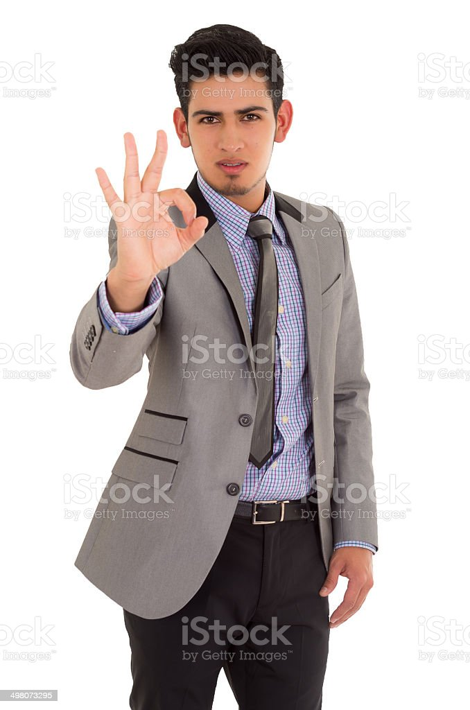 man in fashionable suit stock photo