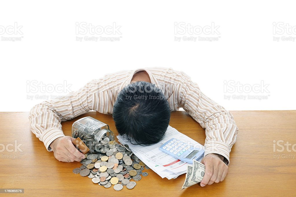 Man in financial trouble royalty-free stock photo