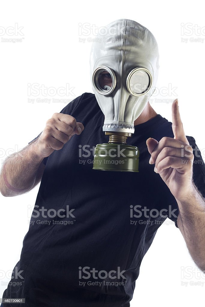 Man in Gas Mask royalty-free stock photo