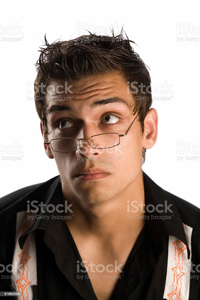 man in glasses royalty-free stock photo