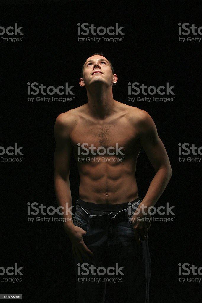 Man in good shape royalty-free stock photo