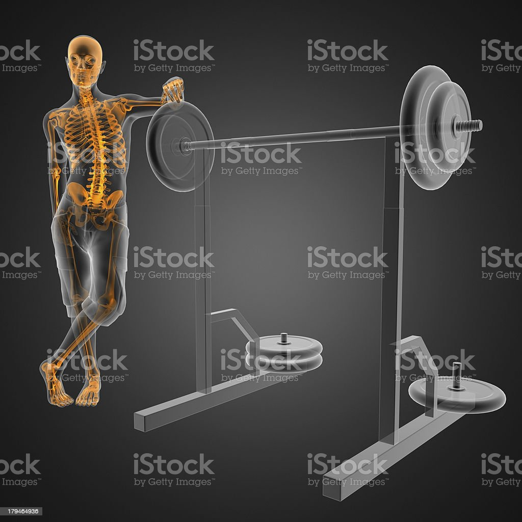 man in gym room radiography royalty-free stock photo