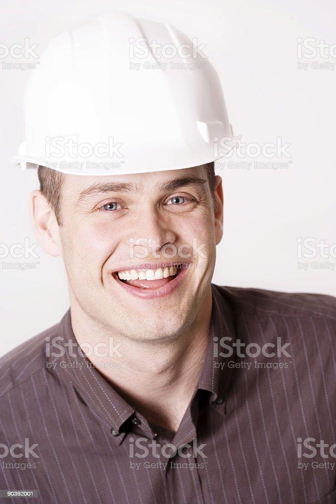 Man in Hard Hat royalty-free stock photo