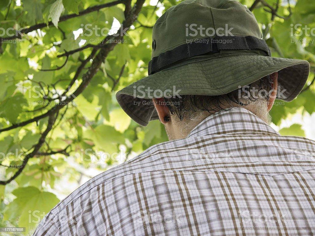 Man in hat. stock photo