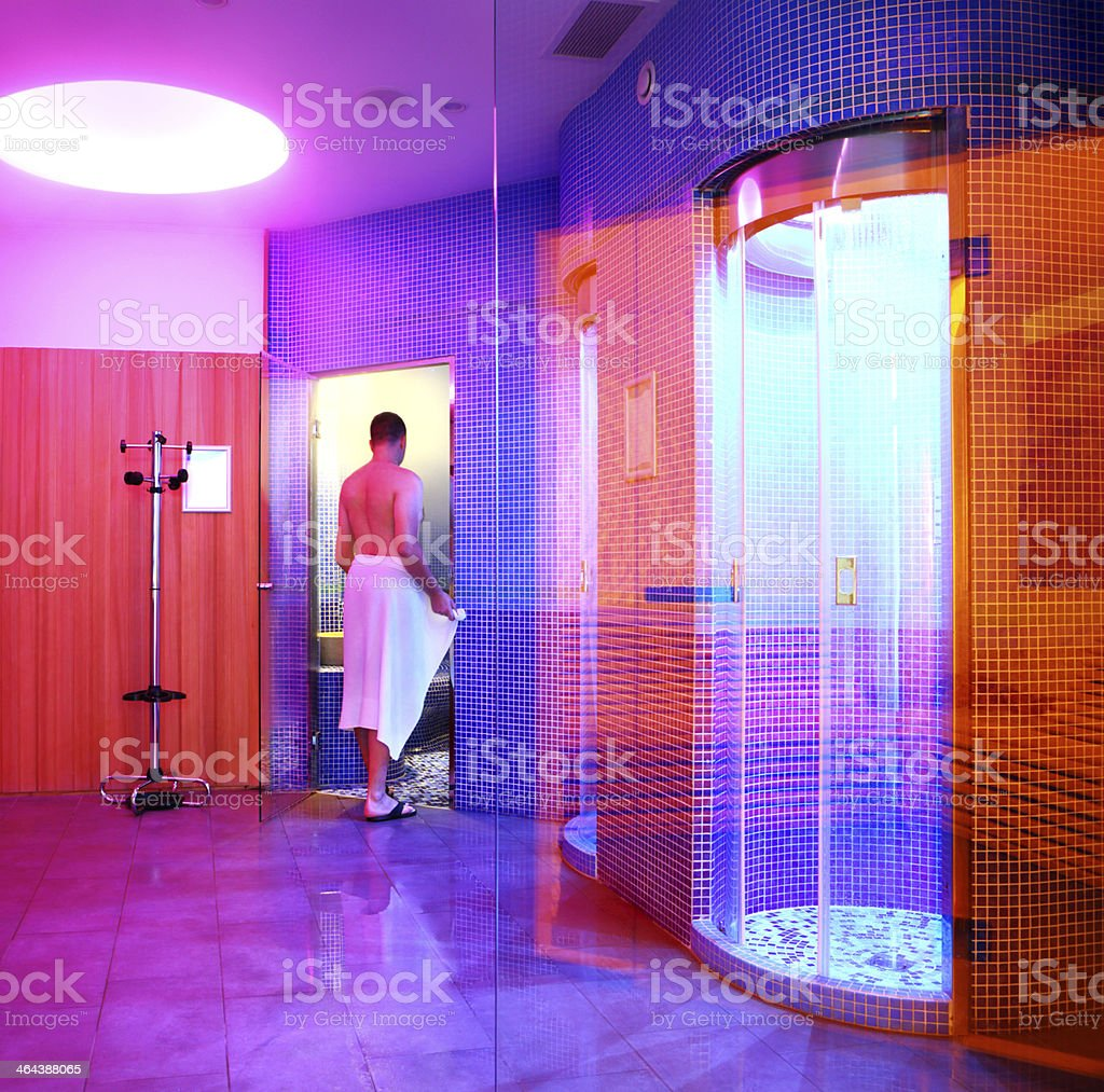 Man in health spa. royalty-free stock photo