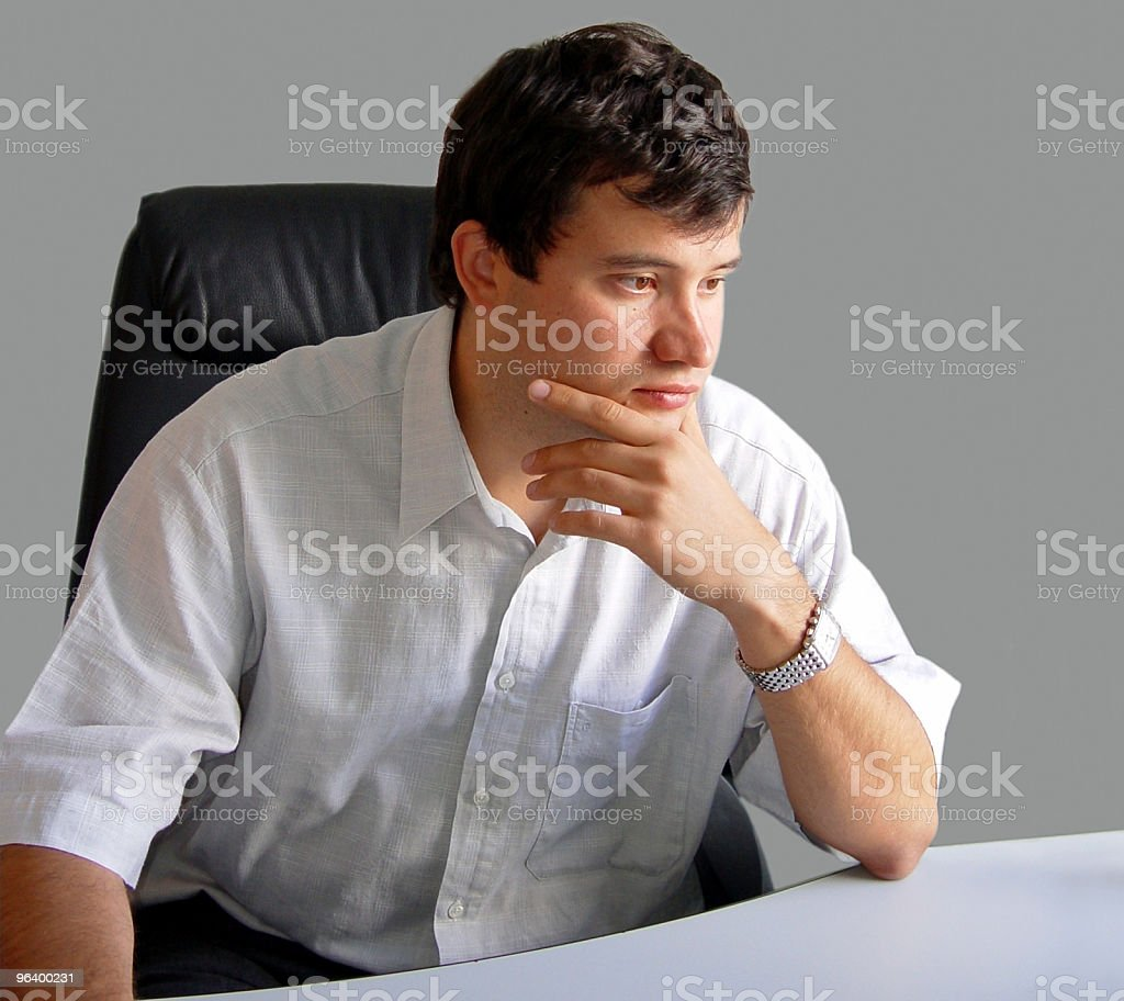 Man in his office royalty-free stock photo