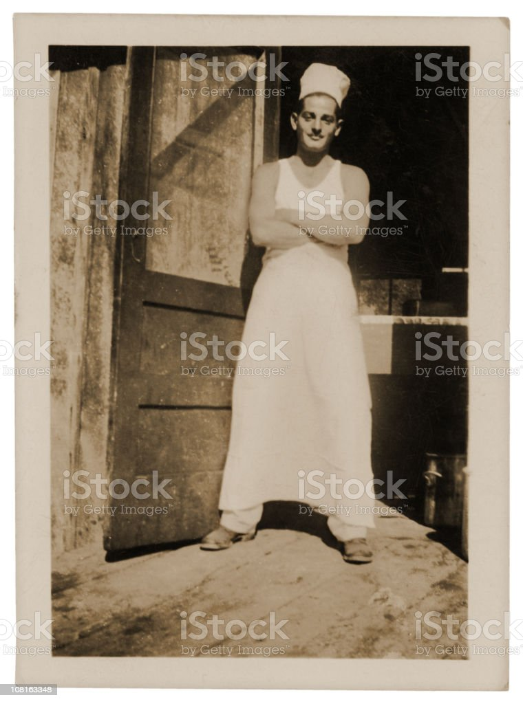 Man in his Workshop - Vintage stock photo