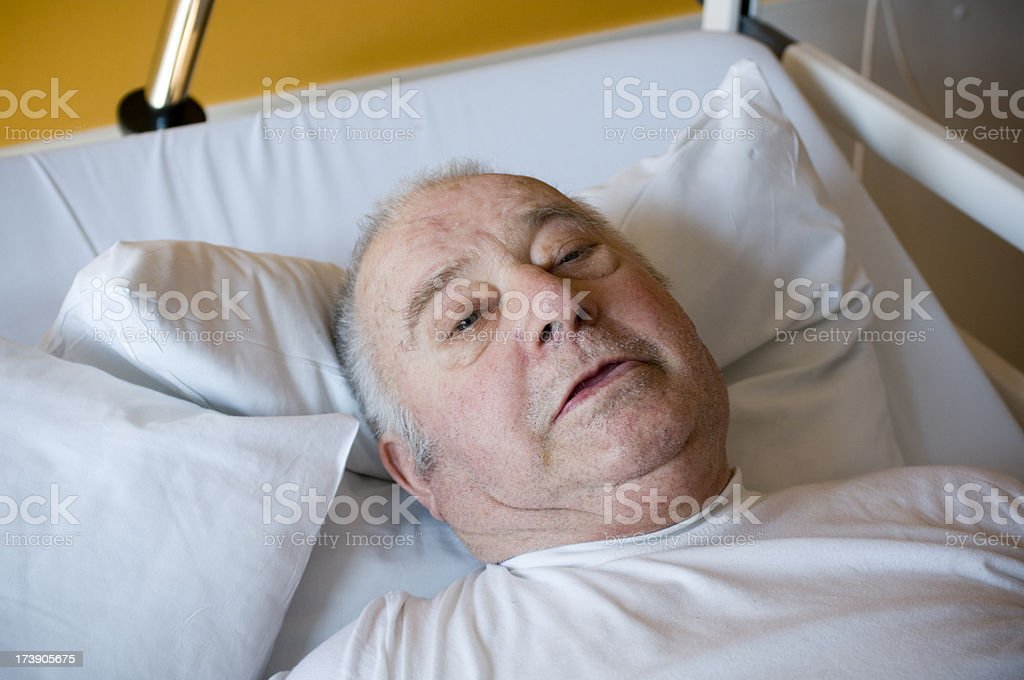 Man in hospital royalty-free stock photo