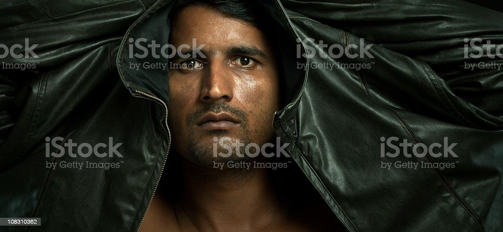 Man in jacket royalty-free stock photo