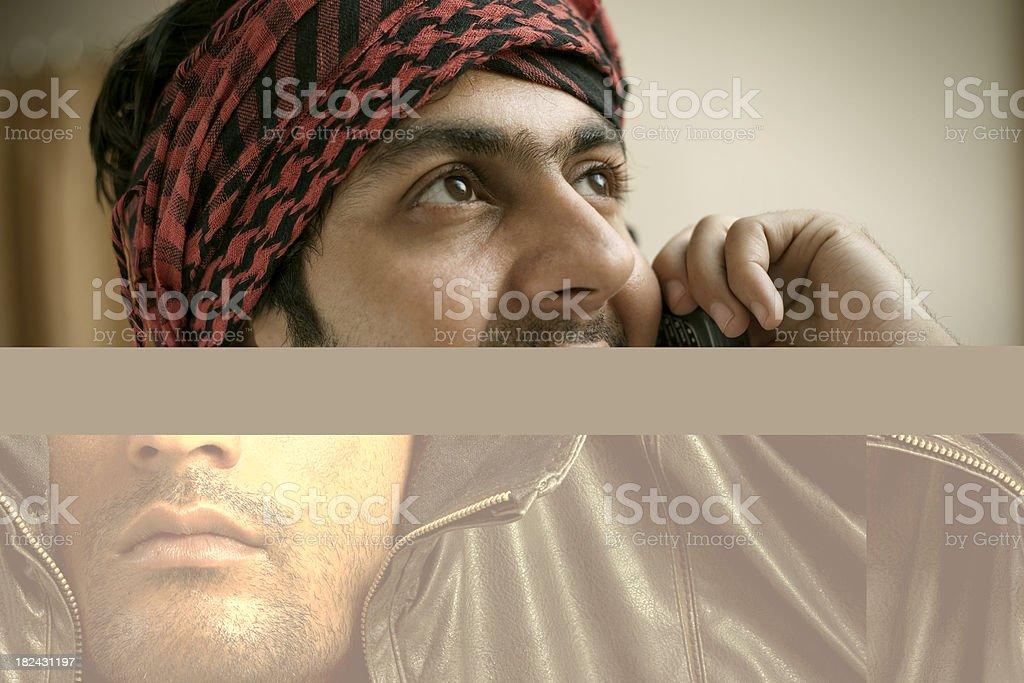 Man in jacket royalty-free stock photo