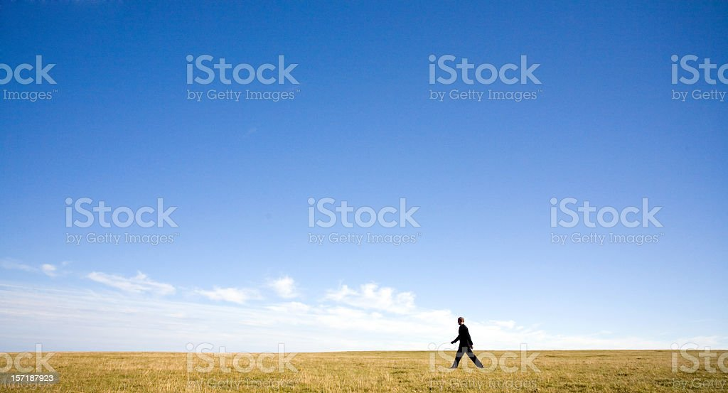 Man in landscape royalty-free stock photo